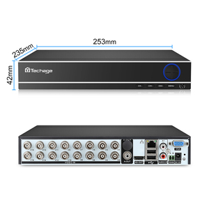Image 2 - Techage XMeye 16CH H.264 1080P HDMI AHD CCTV DVR NVR HVR 1080N 2MP Home Security Digital Video Recorder for Analog AHD ip Camera