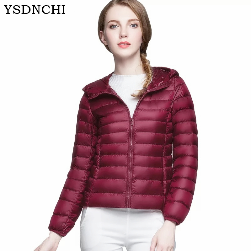 YSDNCHI New Autumn Winter Coats Women   Basic     Jacket   Coat Female Slim Hooded Brand Cotton Coats Casual High Quality Coats   Jackets