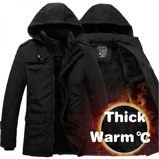 High Quality Winter Jacket Men Thickening Casual Cotton Jackets Waterproof Windproof Breathable Coat mens parka Brand clothing