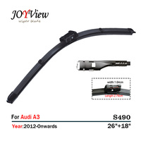 RAINFUN S490 Wipers Size 26 18 Fit For Audi A3 2012 Onwards Wiper Blade Limpia Parabrisas