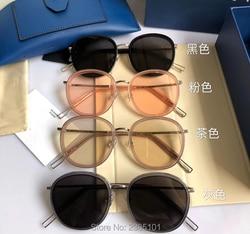 2018 neue Mode Korea Beliebte Heißer Ollie Stil Sonnenbrille Frauen Kühlen Runde GENTIE Marke Design frauen Sonnenbrille Oculos De sol