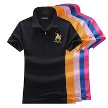 Женские рубашки поло, хлопок, рубашки поло, повседневные классические цветные рубашки, женские футболки поло, топ из хлопка, большие размеры, P023