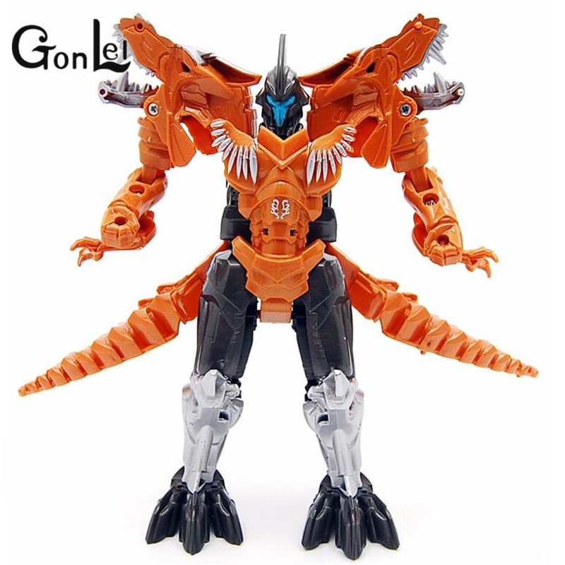 Gonlei Hot Sale Dinosaur Transformation Toys Plastic Robot Action