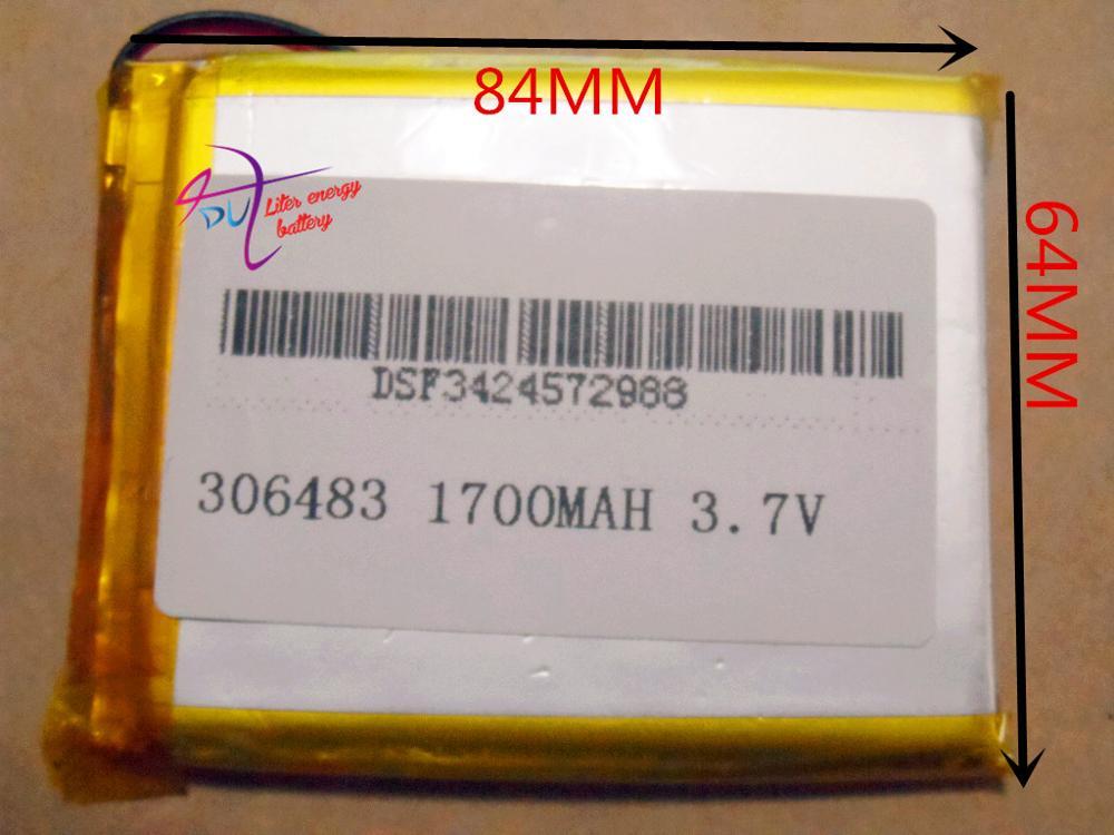 Marca da Bateria de Lítio Polímero com Protection Board para Mp4 Melhor Tamanho 1700 Mah Psp Gps Digital Produto s Gratuitos 306483 3.7 v