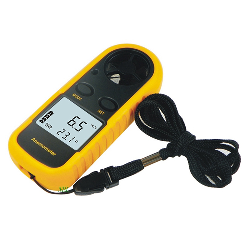 Digital Anemometer LCD Air Wind Speed Gauge Anemometer Thermometer 0-30m/s Wind Speed -10~45C Temperature Meter With Backlit цены