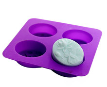 Supply silicone cake mold handmade soap molds dragonfly lotus flower oval round making mould