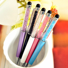 500pcs/lot stationery wholesale diamond pen gift business office signature crystal touch screen special offer