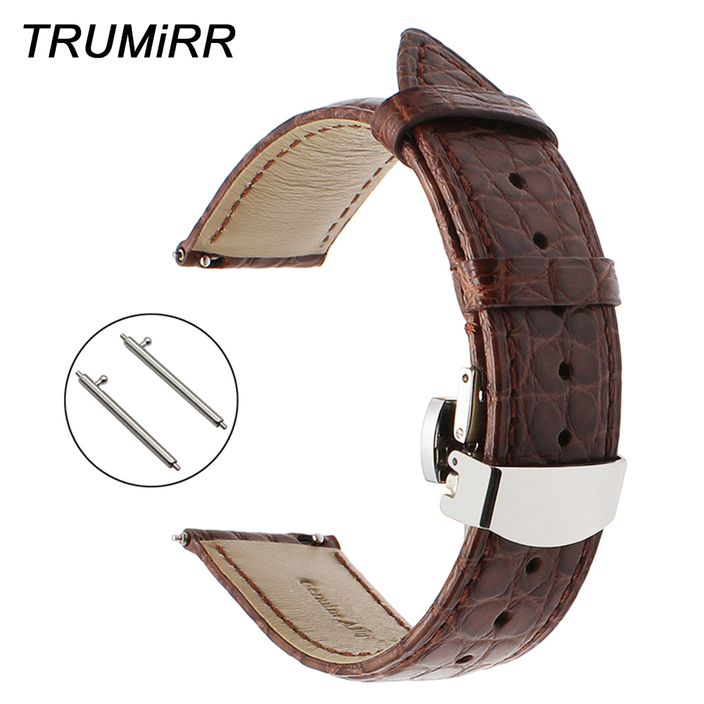 Genuine Alligator Leather Watchband 18mm 20mm 22mm +Tool for Maurice Lacroix Pontos Masterpiece Watch Band Quick Release Strap все цены