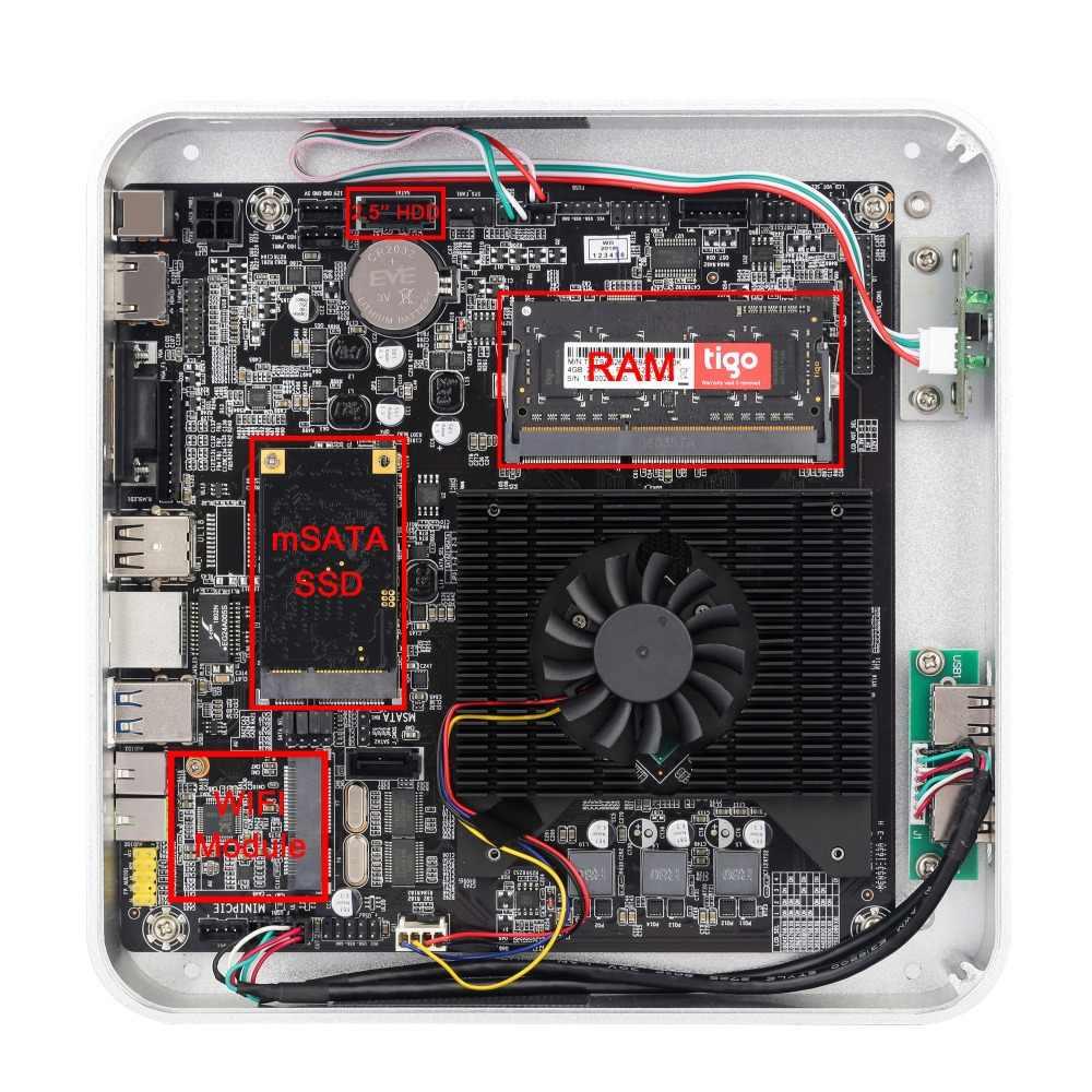 RGeek Мини ПК оконные рамы 10 Intel Core i3 i5 i7 Dual Coref Миниатюрный Настольный ПК HDMI VGA WiFi неттоп HTPC