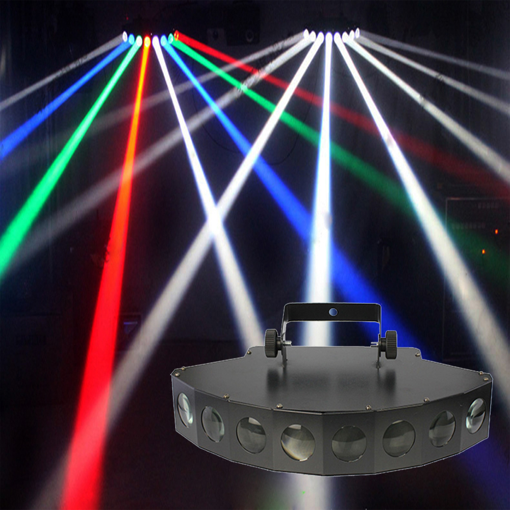 диджей свет 2017 новинки - 2017 new LED DMX 8*10W beam light colored dj club RGBW Scan Stage Effect Lighting disco wedding profesional laser light