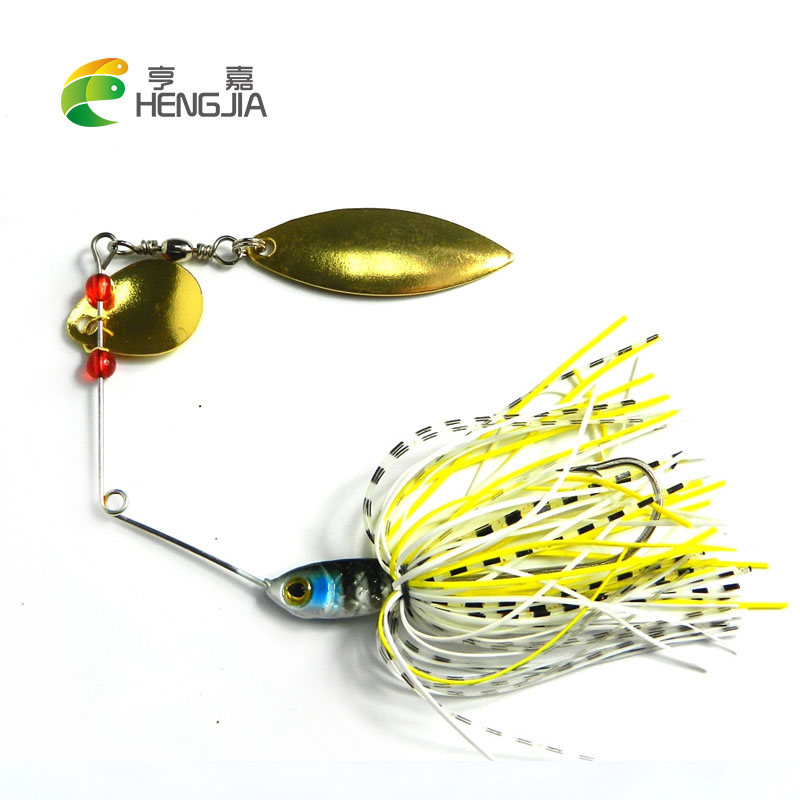 HENGJIA hard metal lead spinnerbait blade sequines fishing lures 17.4g spinner spoons catfish buzzbaits pesca fishing tackles hengjia 70pcs hard metal lead fishing lures wobbler jigs fishing baits sea sinking lures pesca fishing tackles