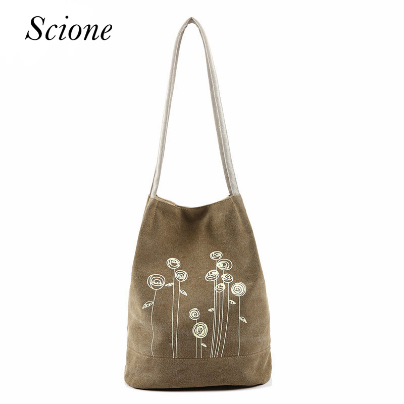 Summer Shoulder Bag Canvas Women Handbags Bucket Ladies Casual Floral Tote Bag For Ipad Bolsos Travel Shopping Beach Bags Li486 2016 rainbow stripes tote bag stylish hollow out beach bag ladies shoulder handbag summer shopping bag for women big m47