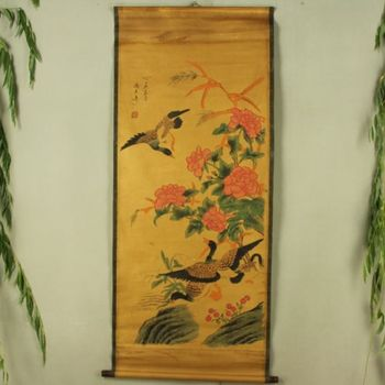 China Antique collection Boutique Calligraphy and painting the Wild goose diagram