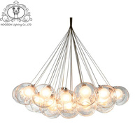 TZ Modern LED Glass Bubble Pendant Lights Creative Ball Lamps For Dining Room Parlor Touw Lamp