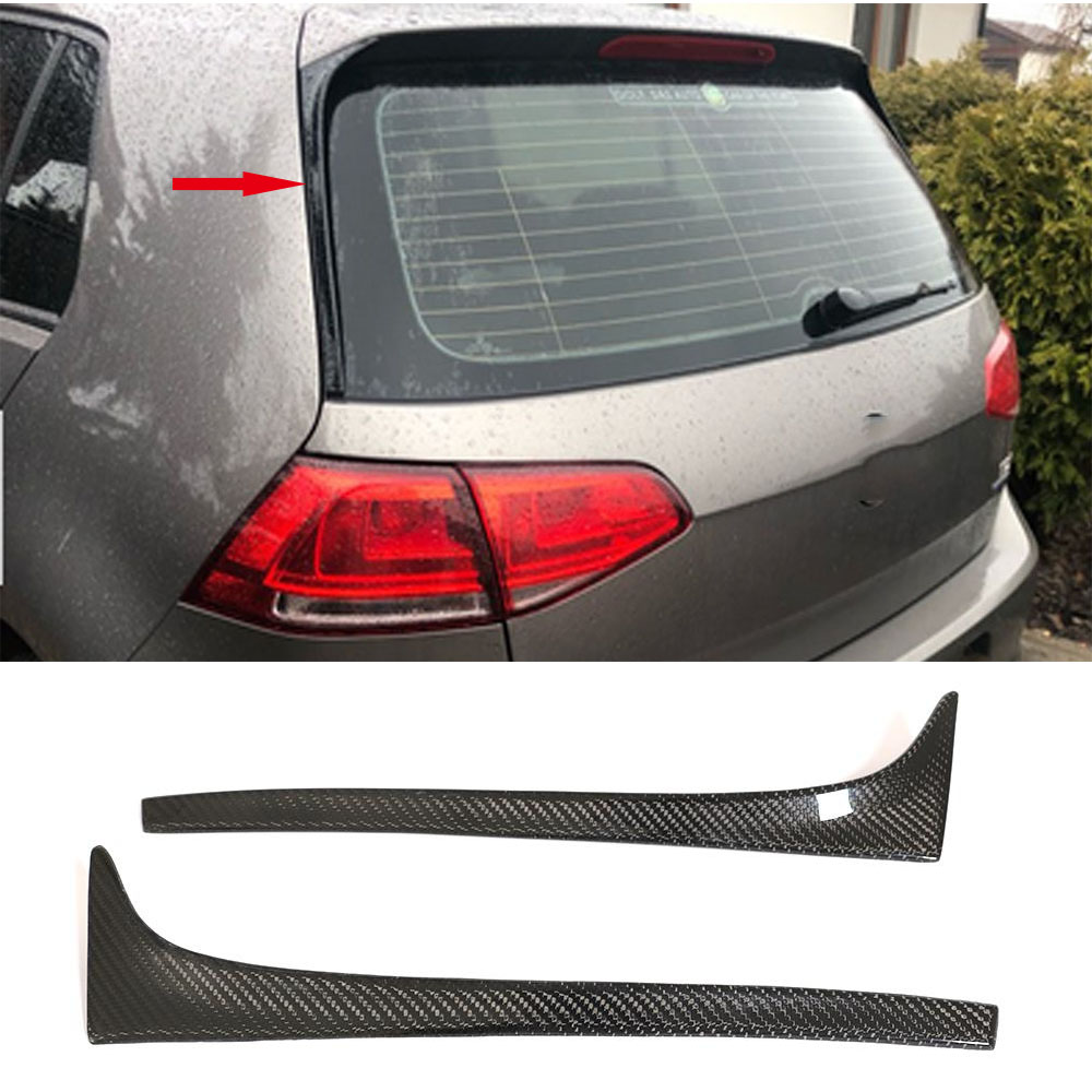 Carbon Fiber / Gloss Black Auto Car-styling Rear Roof Wing Lip Side <font><b>Spoiler</b></font> for <font><b>Volkswagen</b></font> <font><b>Golf</b></font> 7 <font><b>MK7</b></font> 7.5 2014 - 2018 Non GTI R image