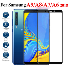 For Samsung Galaxy A7 2018 A750 A750F A730F Tempered Glass For Samsung A9 A8 A6 Plus 2018 Screen Protector Full Cover Glass Film full cover tempered glass for samsung galaxy a8 2018 a730 a730f a730f ds duos plus a8 plus screen protective black display case