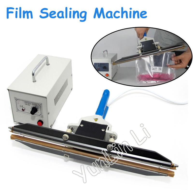 Portable Plastic Film Sealing Machine Hand Clamp Type Sealer Polyethylene PE Film Packaging Machine FKR-400A grid pattern pu leather case w view window key button for iphone 6 plus black