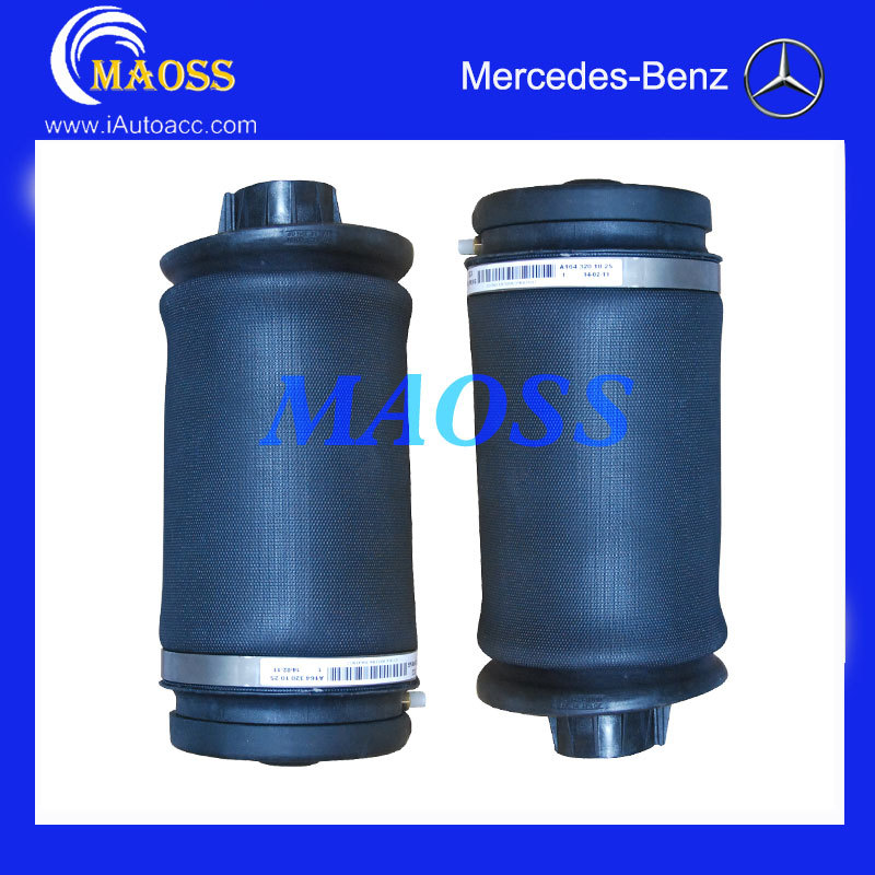 PAIR BRAND NEW REAR AIRMATIC AIR SUSPENSION SPRINGS FOR MERCEDES W164 ML-CLASS A1643201025, 1643201025, 1643200925  airmatic suspension bag for mercedes w164 ml class rear 1643200625 pair gl450 x164 luftfederung springs