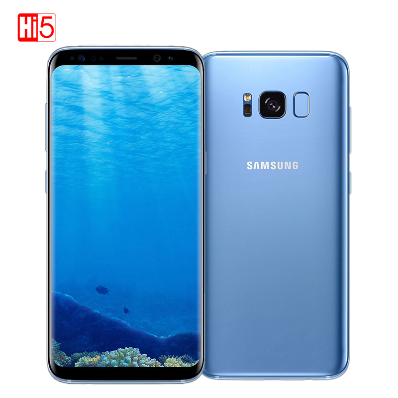 Débloqué Original Samsung Galaxy S8 Plus 4G RAM 64G ROM 6.2 pouces Qualcomm Octa Core 4G LTE téléphone portable D'empreintes Digitales Android 7.0