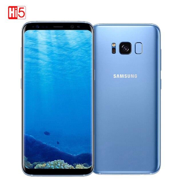 מקורי סמארטפון סמסונג גלקסי S8 בתוספת 4G RAM 64G ROM 6.2 אינץ Qualcomm אוקטה Core 4G LTE טלפון נייד טביעת אצבע אנדרואיד 7.0