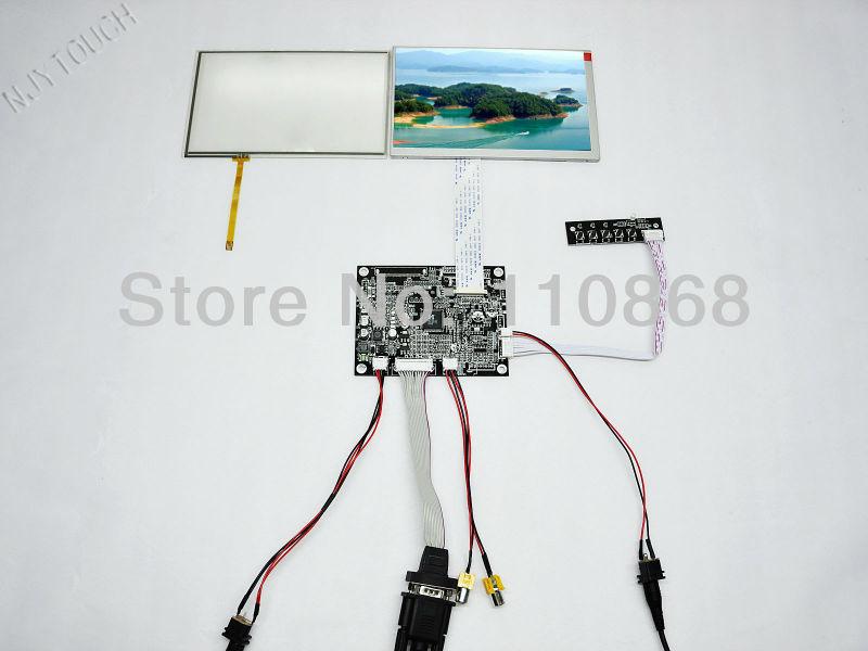ФОТО Hot sell 7 inch LCD touch monitor VGA+2AV+Reversing Controller+7