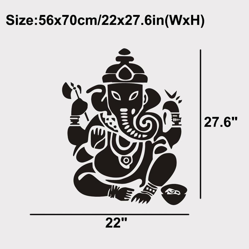 JJRUI Buddhisme India Ganesha Lord Veggklistremerker Yoga Buddha - Hjemmedekorasjon - Bilde 5