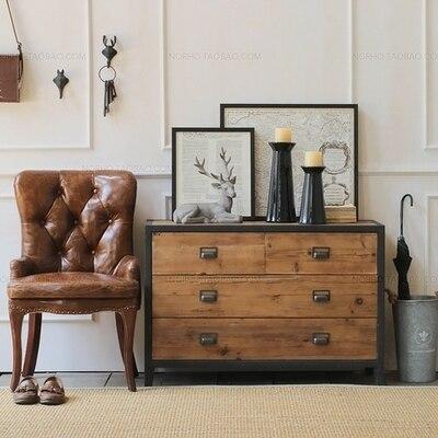Continental hierro de entrada de madera maciza mueble aparador TV ...