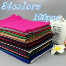 A56 200PCS/lot High Quality Plain Bubble Chiffon Shawls Headbands Popular Hijab Summer Muslim Scarfs