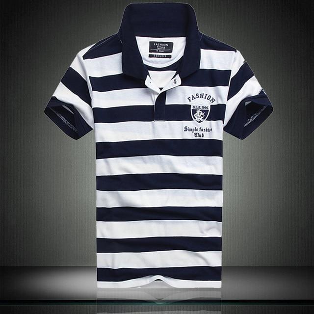 Men Polo Shirt Fashion 2016 Summer Style Brand Clothing Striped Embroidery Polo Men Casual Slim Short Sleeve Camisa Polo Men