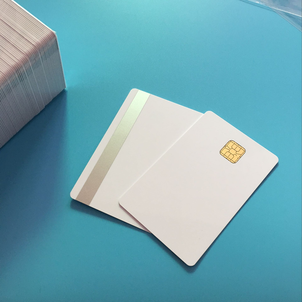 10PCS SLE4428  Sliver Hi Co Magnetic Stripe Compatible SLE5528 Smart Big Chip Composite IC Card