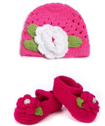 Baby hat + knitted baby soft bottom shoes baby shoes and toddler shoes hats  socks 11 6c0b9d12870