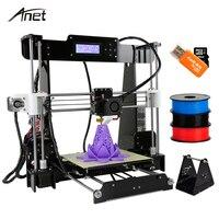 Anet A8 Reprap i3 impressora 3D Printer Large Printing Size Electronic Imprimante 3D Printers DIY Kit With Filament SD Card