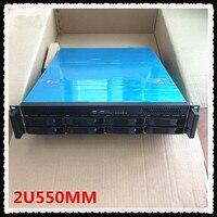 2U550MM 8 HDD plate hot plug server computer case 550MM rack server short design Chassis