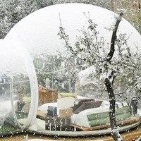 Ücretsiz kargo Şişme şeffaf şişme çadır tünel ile kamp Yüksek kaliteli açık seyahat hafif şeffaf balon çadır