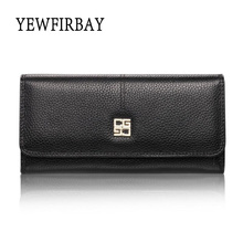 YEWFIRBAY brand 2017 new fashion women wallets female card holders genuine leather wallet coin purses long wallet lady wallet