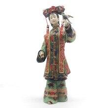 Home Decoration Sculpture Art Chinese Culture Female Statue Decorative Figurines Antique Imitation Asian