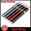 100% Original Kang EVOD mega kit Kangertech cigarrillo electrónico Kit Expreso 1900 mAh Evod Mega Kit de Batería con Evod Mega atomizador (YY)