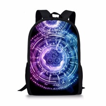 FORUDESIGNS Children School Bags for Girls Boys Cool Magic Array Printing Teenager Primary Backpack Students Satchel Bookbag
