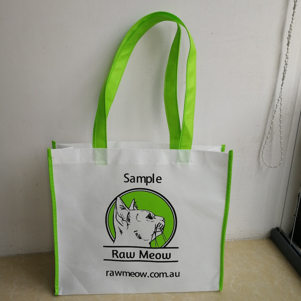 1000pcs/lot custom color bag eco friendly recyclable grocery non woven bag
