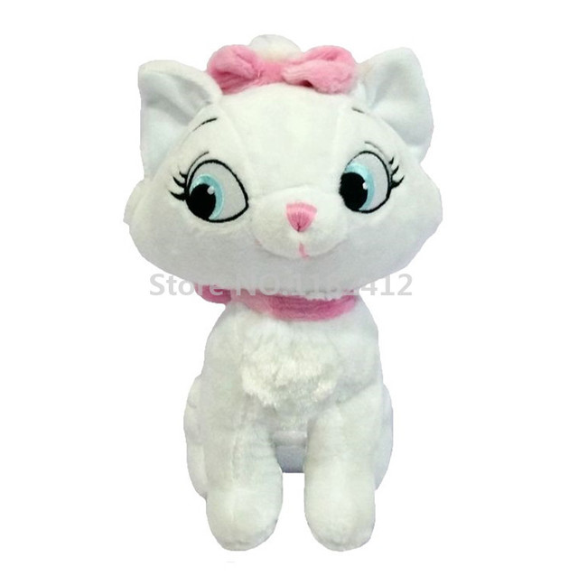Aristocats Marie Cat Plush Toy Stuffed Animals 23cm Soft White Cats