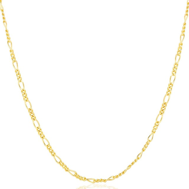 35-90cm Thin Yellow Gold Color Figaro Chain Choker Short Necklaces for Women Girls Boys Kids Baby Children Jewelry Anti allergy