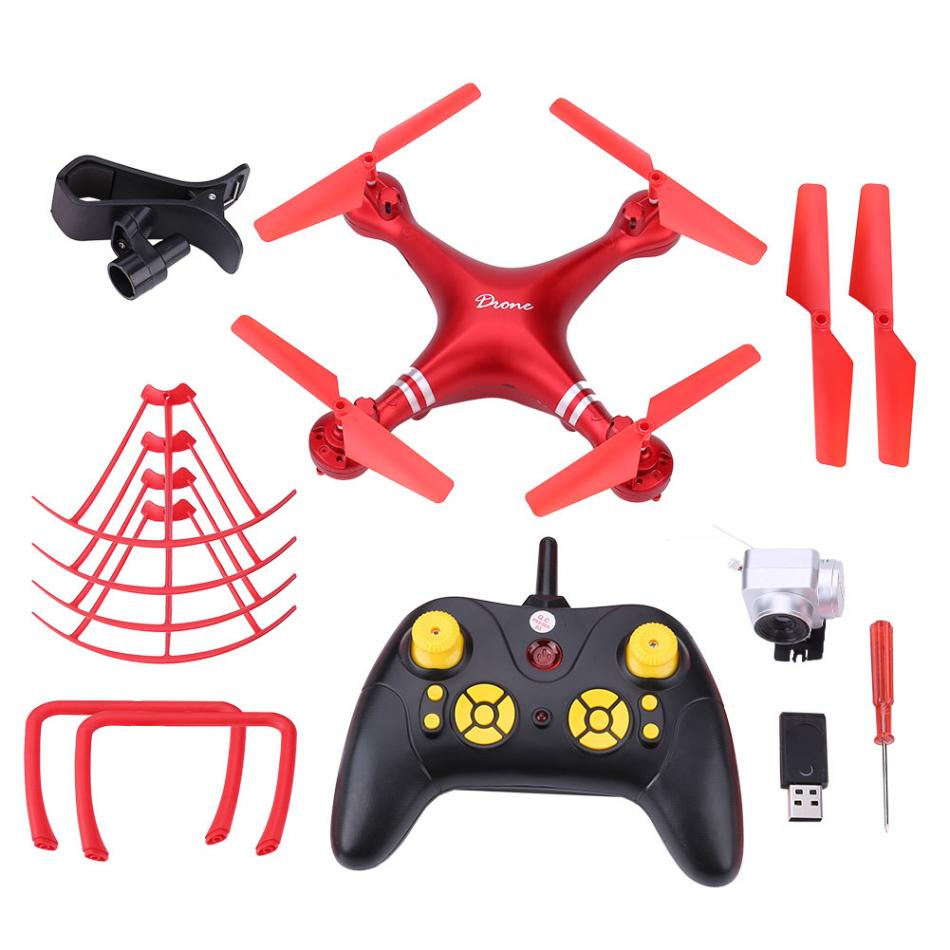 RC Helicopters Three Colors 4CH RC Drone WiFi Phone Remote Control Quadcopter Altitude Hold Toys With