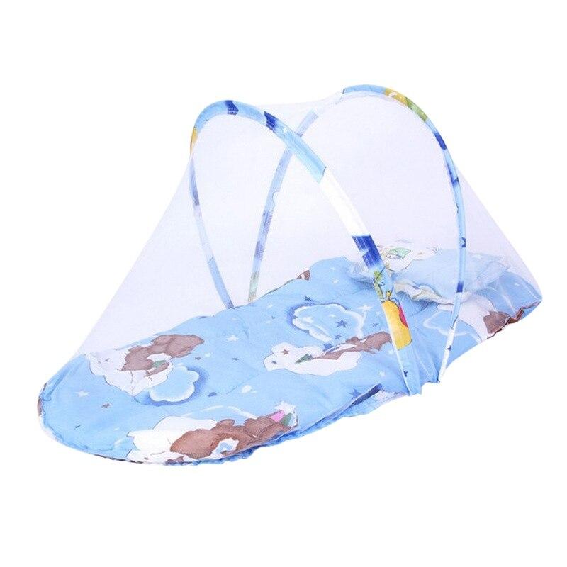 100% Kwaliteit Opvouwbare Baby Klamboe Insect Cradle Draagbare Canopy Kussen Baby Beddengoed Zomer Accessoires Baby Matras Hoge Kwaliteit En Goedkoop