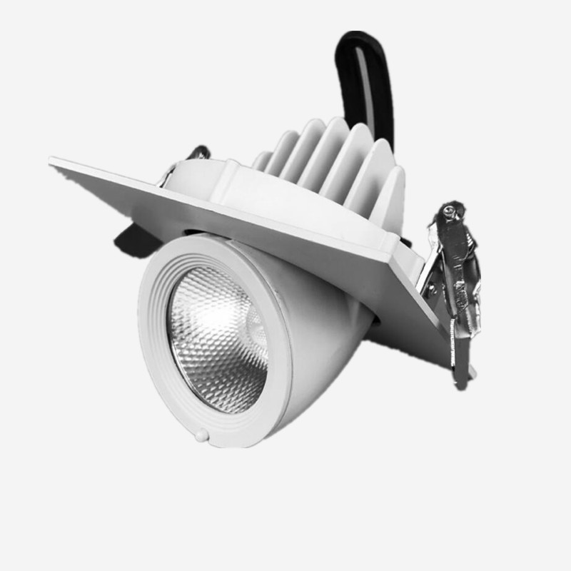 14PCS/Lot Dimmable Rotate 360 degrees 9W 15W LED Spot light LED ceiling lamp Recessed LED downlight COB 110V 220V home luminaire no dimmable recessed led downlight cob 40w 60w led spot light led ceiling lamp ac110v 220v free shipping