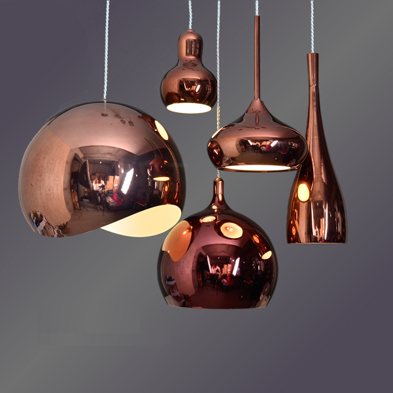 Modern Copper Ring Led Pendant Lighting 10758 Shipping: Hot Selling Led Lamps Modern Restaurant Pendant Light Rose