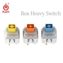 Kailh caja de teclado mecánico interruptor amarillo/azul/naranja heavy oscuro, interruptores impermeables y a prueba de polvo, 80 millones de ciclos de vida