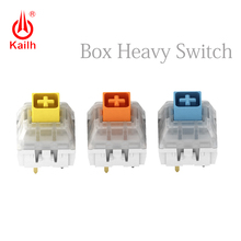 Kailh لوحة المفاتيح الميكانيكية صندوق ثقيل أصفر داكن/أزرق/برتقالي التبديل ، مفاتيح مقاوم للماء والغبار ، 80 مليون دورة الحياة