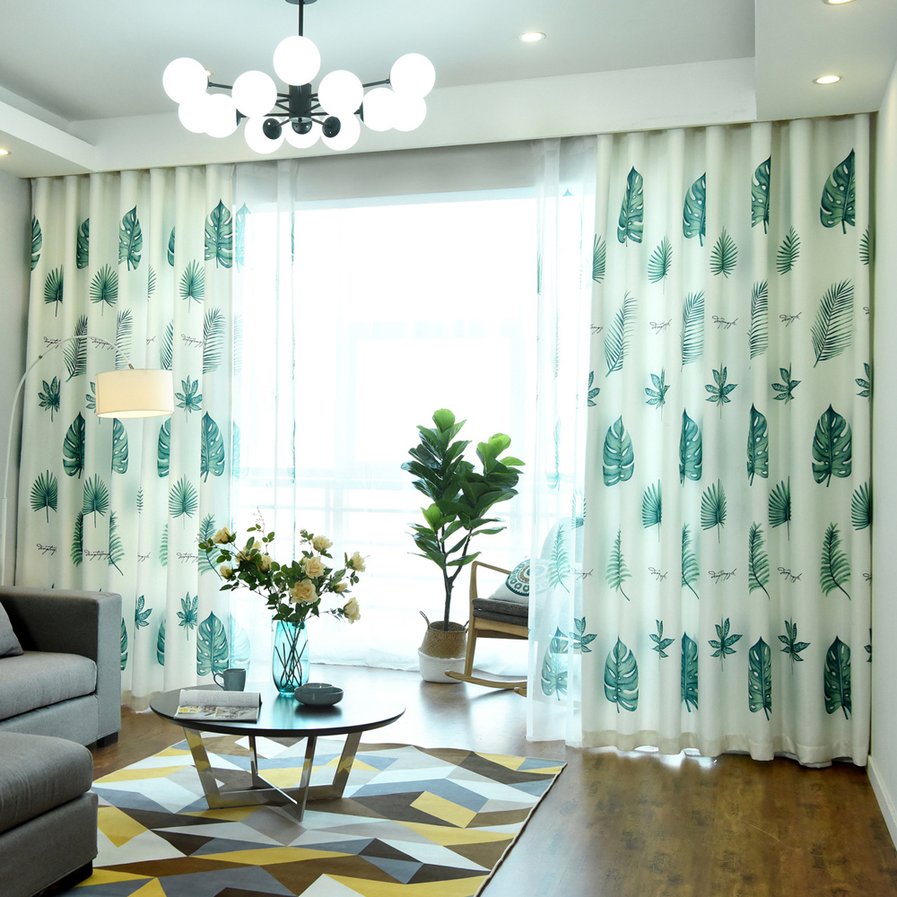 Rustic Curtains For Living Room Us 5 25 30 Off Modern European Style Rustic Curtains Decorated Shade Living Room Bedroom Kitchen Tropical Plant Print Wp214 30 In Curtains From Home