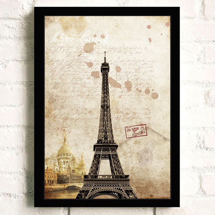 Home Decoration Tower London Historical Building Wall Art Picture For Room Decor Stamp Painting on Canvas Vitnage Poster