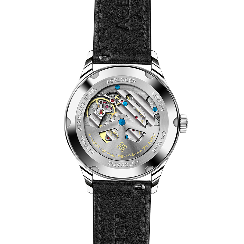 Agelocer оригинальный известный бренд парные часы мужские и женские механические часы с датой и днем водонепроницаемые часы минималистичный Т... - 2
